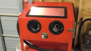 Sand Blasting Cabinets Harbor Freight Blast Cabinet Youtube
