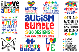 It's high quality and easy to use. Autism Svg Bundle 30 Designs Dxf Png Cricut Cutting Files 223517 Cut Files Design Bundles