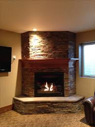 basement fireplace like the idea of the 3 sides to give it a bulkier look