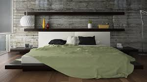 Queen Size Modern Bed With Faux Leather Headboard Design