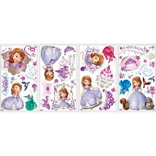 Sofia The First Bedroom Furniture Disney Jr Sofia The First Peel Stick Wall Decals Toysrus