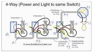 4 way switch wiring diagrams for single light power via endearing 3 way switch wiring schematic at 3 Way Switch Wiring Diagram Power At Switch