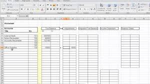 Accounting Worksheet Mp4