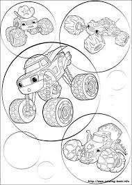 Blaze And The Monster Machines Coloring Pages Monster Truck