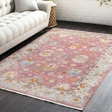 bright red rug porter vintage traditional area