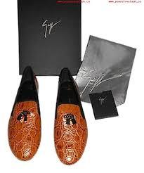 durable womens shoes giuseppe zanotti cognac i36066 crocodile embossed leather loafers flats 9731665