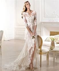 italian wedding dresses. Sexy Italian Wedding Dresses Sheath V Neck High Low Front Slit