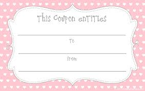 Coupon Outline Template 15 Sets Of Free Printable Love Coupons And Templates