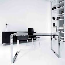 white modern office furniture. Automation Modern Office Furniture White Contemporary With Technology U The Desk Table Design Glass L