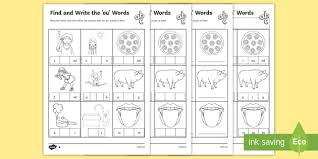 Oa ow words worksheets pack for kindergarten and first grade. Ou Word Phonics Activity Ks1 Phonics Worksheet