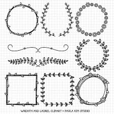 wreaths and laurel clipart graphics, borders and frames for Wedding Invitations With Graphics wreaths and laurel clipart graphics, borders and frames for wedding invitations, digital download images Wedding Background Graphics