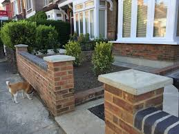 Small Picture New front garden brick walls and coping Bricklaying job in