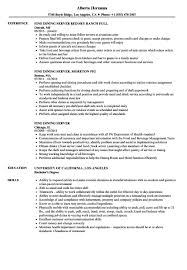 Resume For Servers Fine Dining Server Resume Luxury Servers Resume Example Free