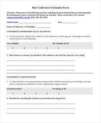 Sample Course Evaluation Form Inspiration Conference Evaluation Forms Templates Kordurmoorddinerco