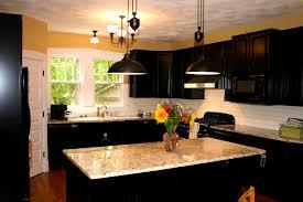 Dark Cabinets Light Backsplash Prepossessing Handsome Dark Granite  Countertops Kitchen Cabinets Light Design Ideas Best For Cherry With  Backsplash Brown Top ...