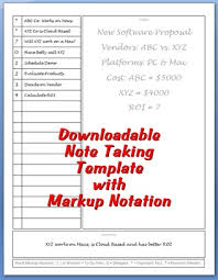 Meeting Note Taking Template