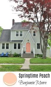 springtime peach benjamin moore exterior paint color ideas