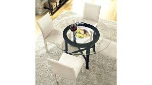 54 inches round table halo ebony round dining table with glass top reviews crate and barrel 54 inches round table