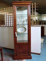 single door showcase with glass