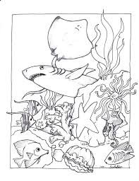 Sea Animals Coloring Pages Sea Animal Pictures To Color Sea Animals