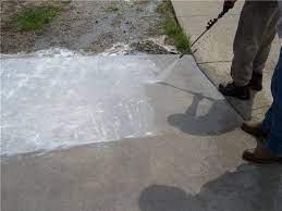 how to pressure wash concrete driveways