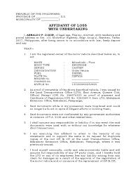 Affidavit Of Loss Affidavit Notary Public