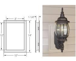 exterior light fixture mounting plate. super jumbo mount exterior light fixture mounting plate
