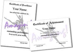 Dance Award Certificate Printable Ballet Certificate Templates