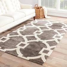 brown and white area rug popular bronx handmade trellis dark gray 8 x 11 for grey within 5
