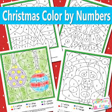 2020 popular 1 trends in home & garden with christmas color by number pictures and 1. Christmas Color By Numbers Worksheets Itsybitsyfun Com