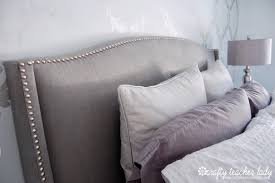 architecture grey upholstered headboard with nailheads new diy tutorials bedrooms and throughout 3 from