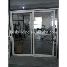 popular aluminum self closing sliding door with double glazing bunnings