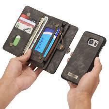 samsung galaxy s7 case. caseme samsung galaxy s7 zipper wallet detachable 2 in 1 folio case black