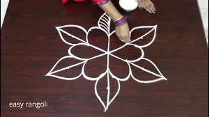 Draw A Beautiful Leaf Kolam Design Step By Step Easy And