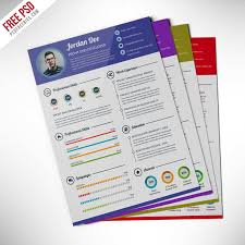 Infographic Cv Template Psd Professional Resume Templates