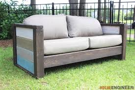 outdoor wooden sofa. Wonderful Wooden DIY Planked Wood Loveseat  Rogue Engineer With Outdoor Wooden Sofa