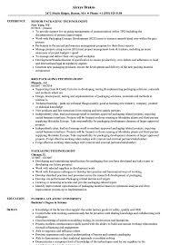 Resume For Packaging Job Packaging Technologist Resume Samples Velvet Jobs 87