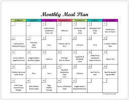 Free Monthly Meal Planner Printable: Calendar Template For Menu Planning