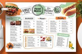 Resturant Menu Template 50 Best Food Drink Menu Templates Design Shack