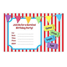Carnival Themed Invitations Also Sold Out Birthday Party Templates