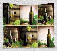 complements accessories decor red and white wine barrels bottles glasses grapes and leaves