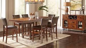 dark wood dining room furniture. red hook pecan 5 pc counter height dining room dark wood furniture 4
