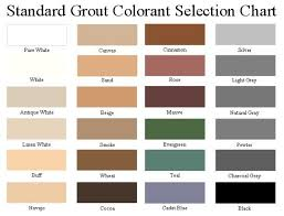 Grout Colors Chart Types Of Tile Grout Color Chart Choosing The Right Tile