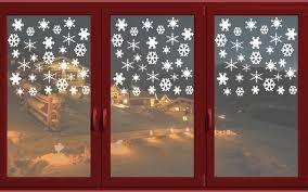 90 Eiskristalle Fensterdeko Weihnachten Wandtattoo Fensterbilder Fenster Aufkleber Farbeweiß