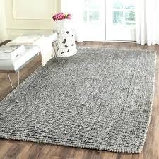 white jute rug casual natural fiber hand woven light grey chunky thick inside gray jute rug white jute rug