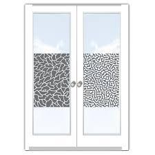 Folie Milchglas Muster Modern Kunst Glas Dekoration Sichtschutz Für