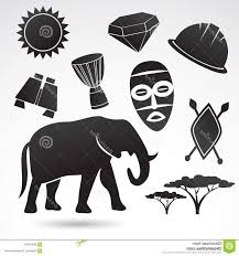 Traditional Symbols Stock Illustration Traditional Symbols Africa Vector Illustration