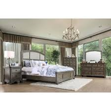 grey bedroom sets. furniture of america fenemi rustic 4-piece wire-brushed grey bedroom set sets r