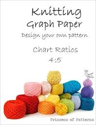 Knitting Graph Paper Design Your Own Chart Ratios 4 5 Amazon Co
