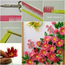 creative way to make quilling flower